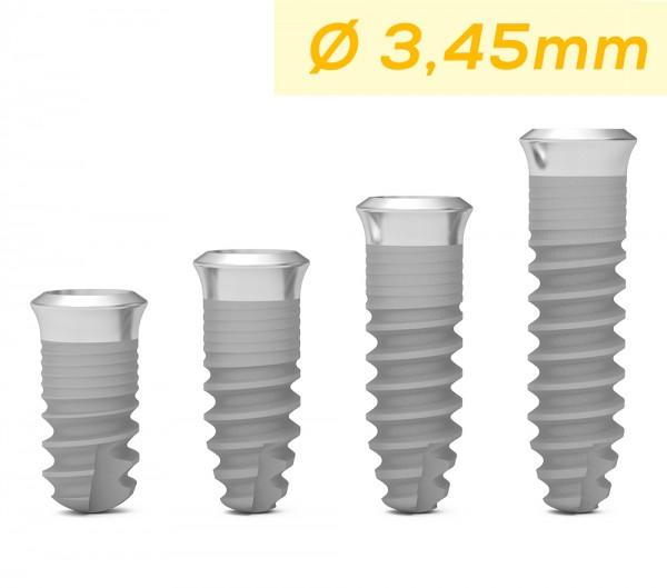 ICX-Premium plus Single-Implantat gelb, Ø 3.45mm
