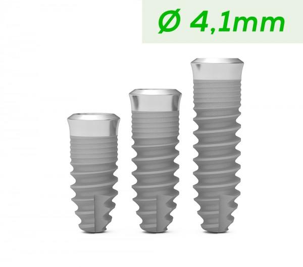 ICX-Premium TissueLevel Implantat grün, Ø 4,1mm