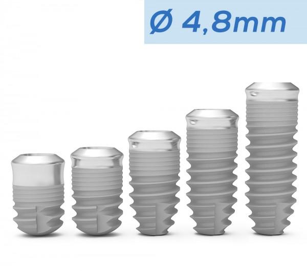ICX-Premium TissueLevel Implantat blau, Ø 4,8mm