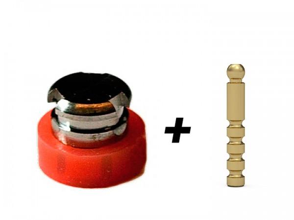 T-Ecco, Matritze, komplett, inkl. goldener Innenmatritze mit rotem Kunststoffring