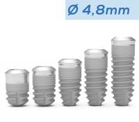 ICX-Premium TissueLevel Implantat blau, Ø 4,8mm 4,9mm