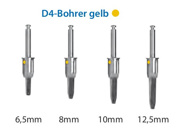 ICX-Magellan D4-Bohrer gelb Ø3,45mm