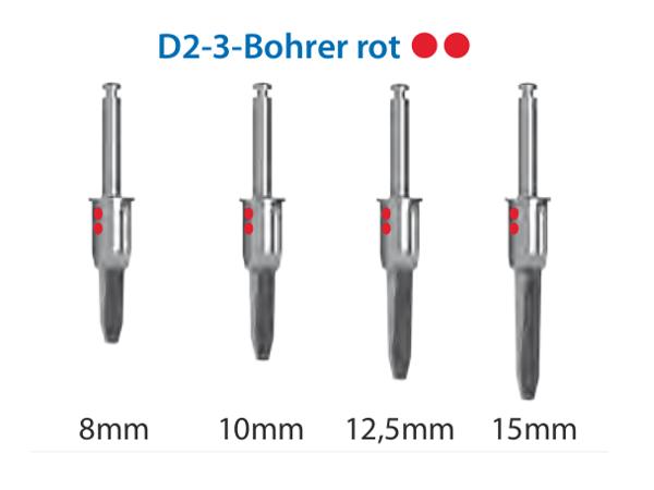 ICX-Magellan D2-3-Bohrer rot Ø3,75mm