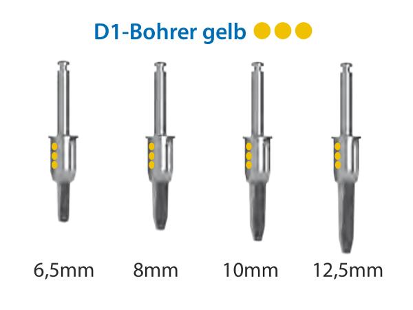 ICX-Magellan D1-Bohrer gelb Ø3,45mm